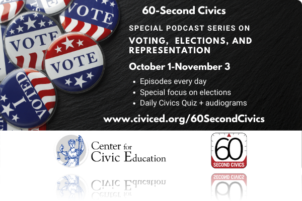 Center Launches Special 60-Second Civics Series to Encourage Voting